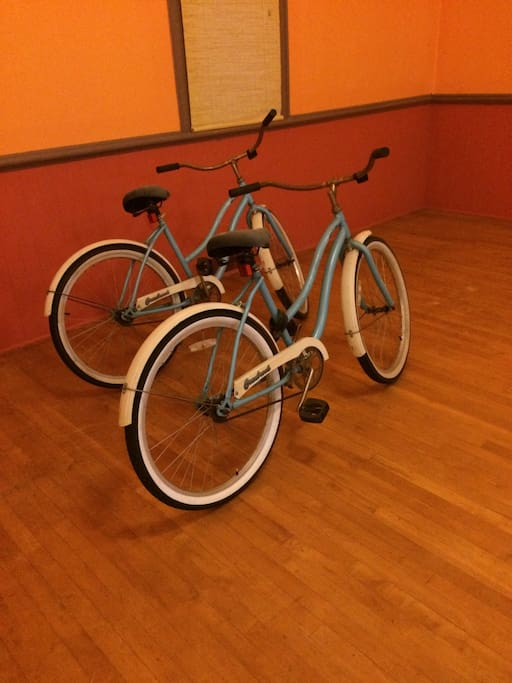 Bikes available to get around on