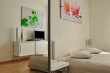Studio meublé avec place de parc