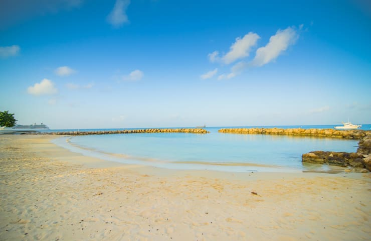 Enjoy the Caribbean sea from your protected pristine beach