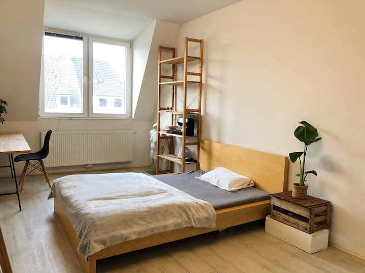 Spacious private room in cozy Maisonette home