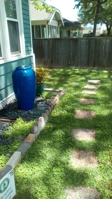 Pathway to backyard.