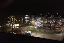 View at Christmas time