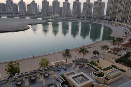 Fantastic Ocean view at pearl  qatar one bedroom