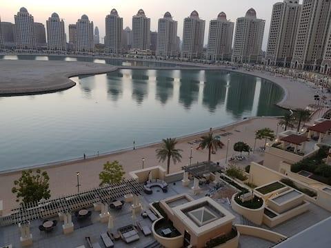 Fantastique vue sur l'océan à Pearl  qatar une chambre