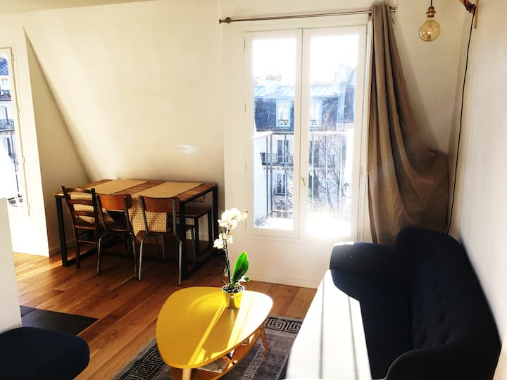 Cosy 2 rooms flat for a couple in eastern Paris