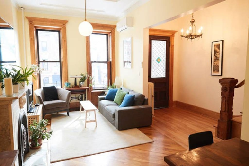 Open plan with classic, wood-flooring throughout.
