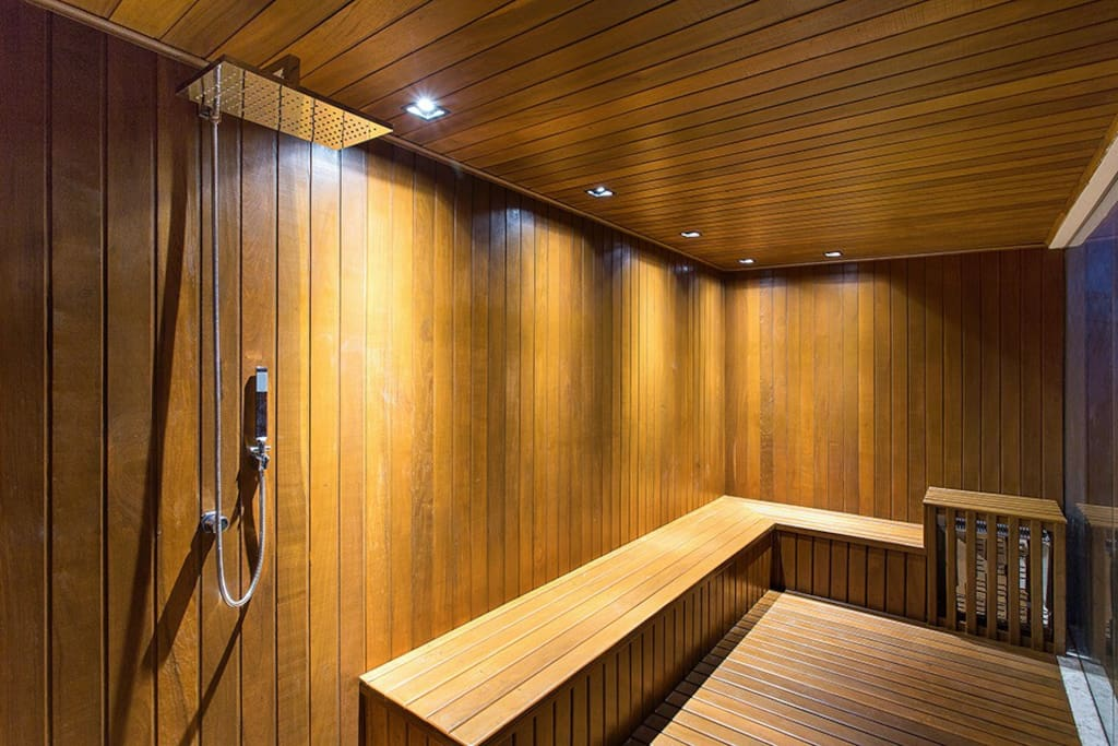 Sauna com chuveiro