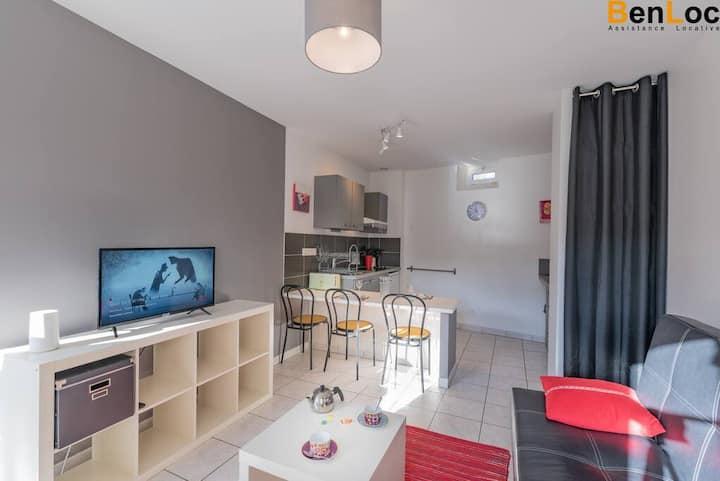 Appart 39m2ouvert pendant confinement  Terrasse et Jardin, wifi, Netflix