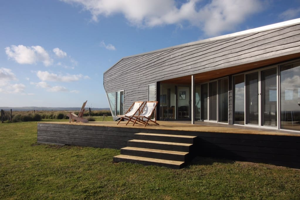 Grand design style home with vast private shoreline