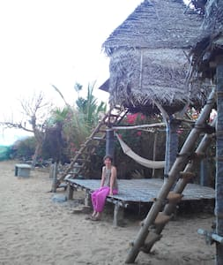 Beachside hut shared bath-Room no.1 - Bommayapalayam - Capanna