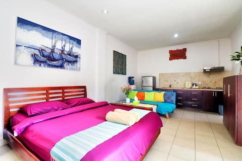 """75% OFF"" Private room ABC 4 w/ terrace & kitchen"