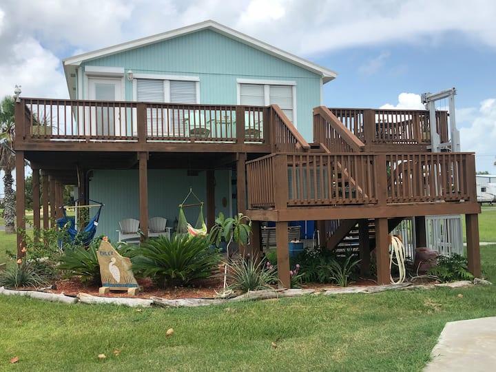 Ehler Bay Haus Downstairs Guest Suite Port OConnor