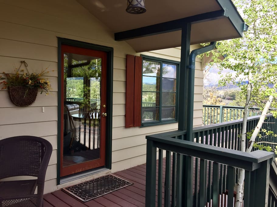 Enjoy relaxing on the front porch for hours. Great place to sit during the afternoon rains.