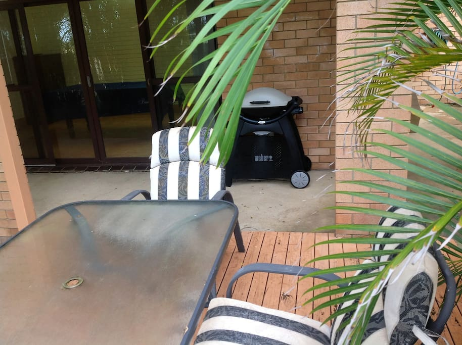 Outdoor entertaining area, with Weber BBQ