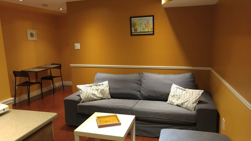 Cozy 1 bedroom basement apartment