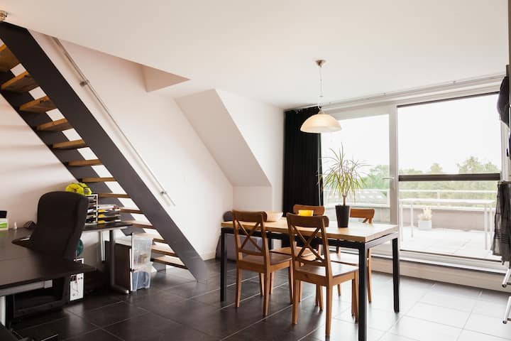 Nice apartment in Boechout with a big terrace.