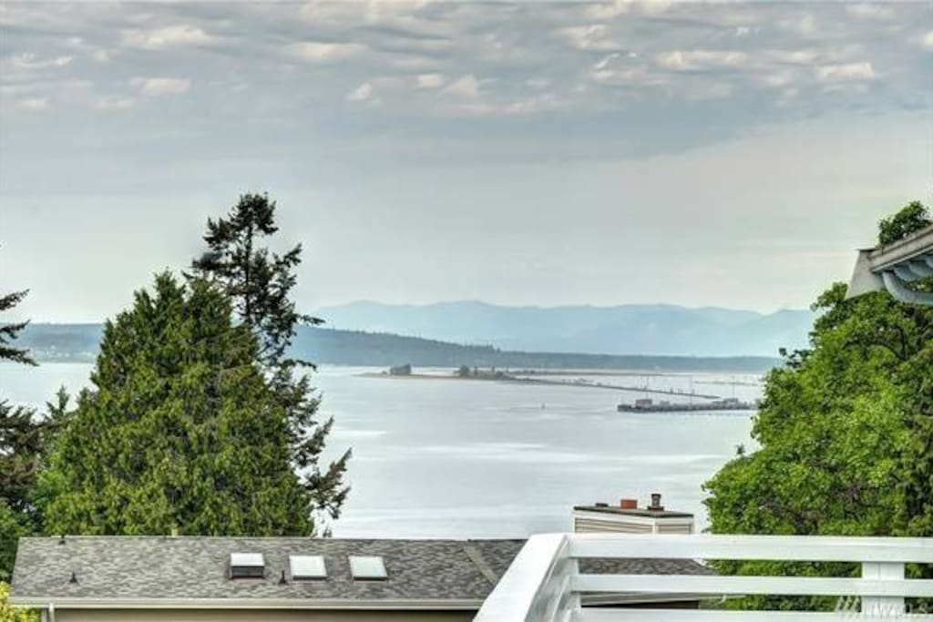 180 degree Pudge Sound and Mountain View