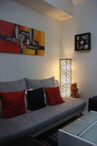 Cozy sofa and living room area