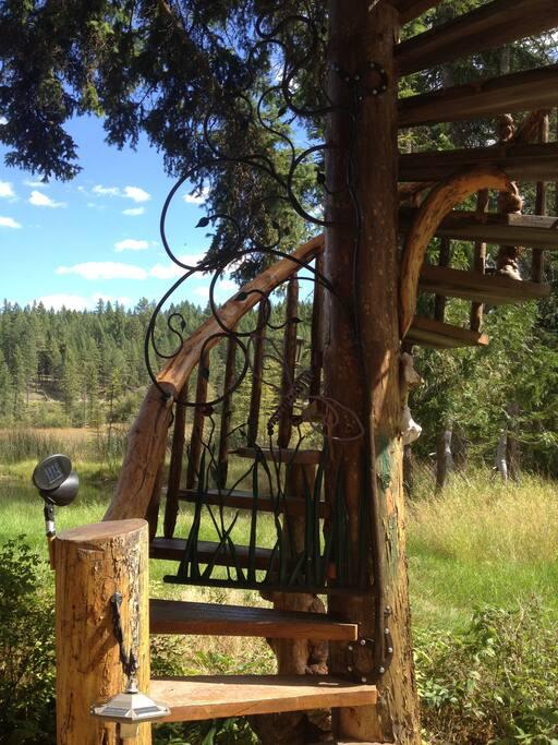 Hand-made Wrough Iron gate