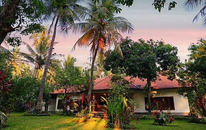 Garden View villa  |  Tranquility and authentic Bali |  Surrounded with a lush fruit garden  |  Elev