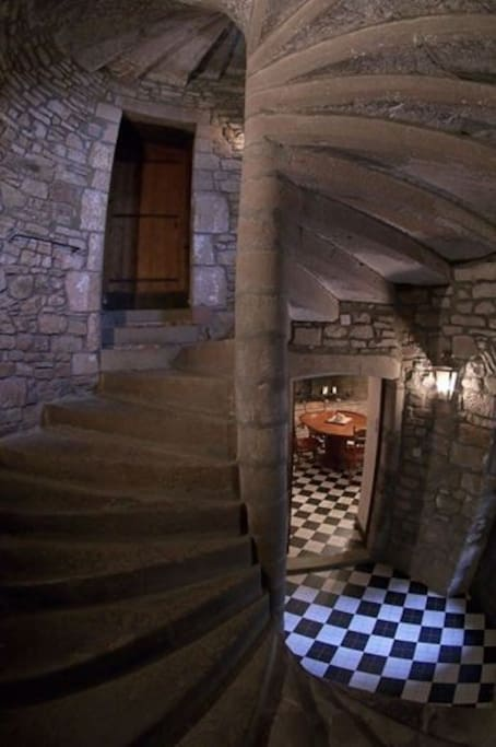Inside the 13th C Tower