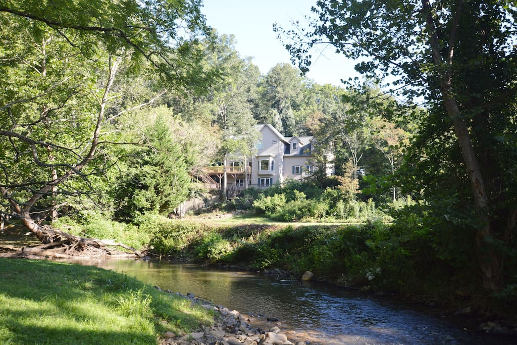 House on 4+ acres with creek