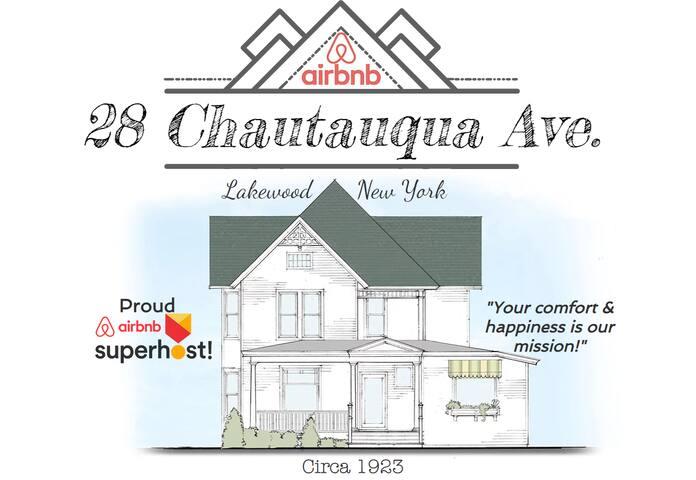Beautiful Historic Home by Chautauqua Lake!