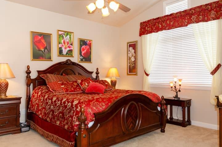 Master Bedroom at Pineview Reservoir & Snowbasin