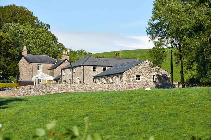 Helm Mount Lodge and cottages sleeps 14.