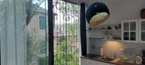 Studio apt for two with a view