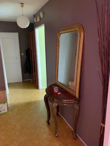 Chambre à louer dans appartement centre ville