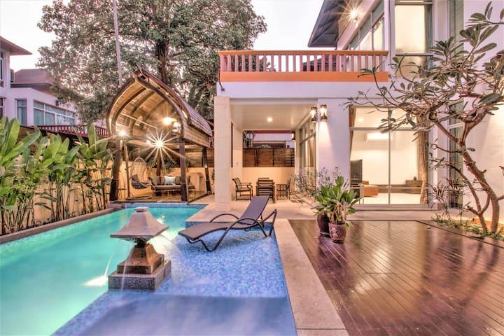 ⭐Master 6Bed LuxuryPool 500sqm ❤️Private@Pattaya