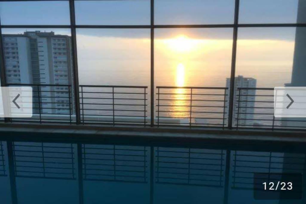 vista piscina temperada