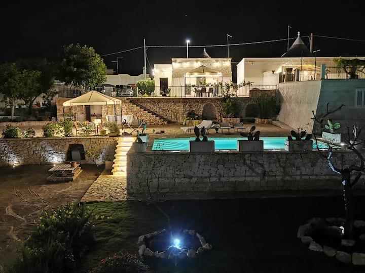 Trullo di Mariluna con piscina in Valle d'Itria