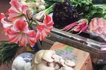 Vegetarian displa on the market