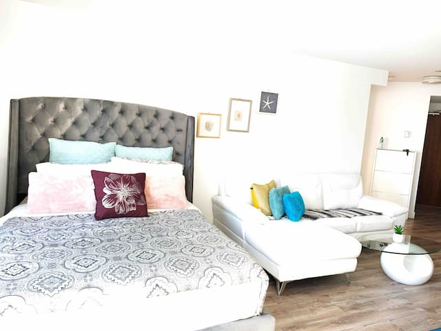Modern Studio in Downtown with free parking
