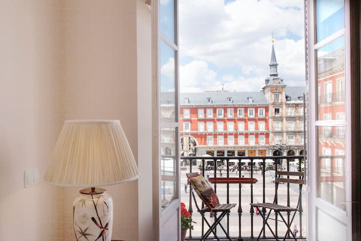 Duplex at Plaza Mayor, most historical place