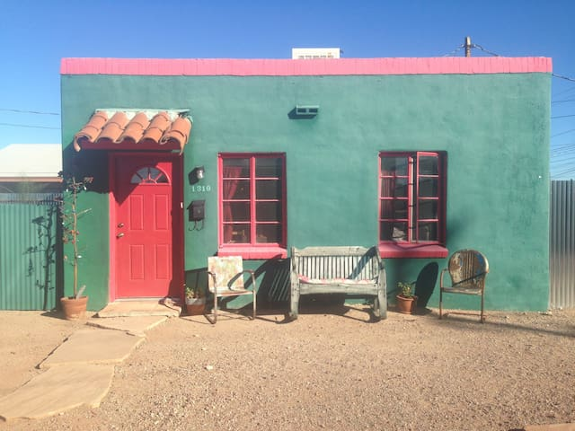 Front of casita and front courtyard