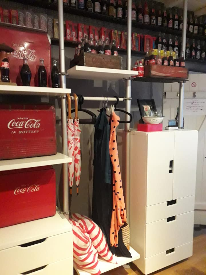 Room with a Coca-Cola touch