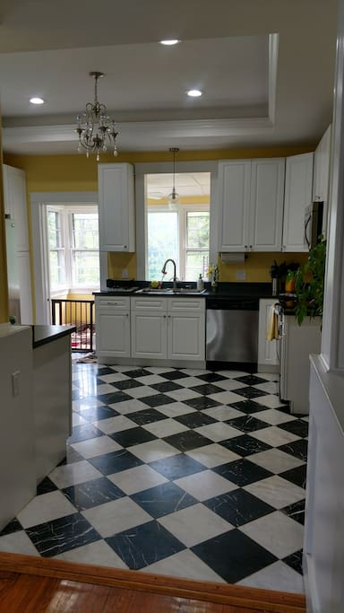 Large kitchen space with new appliances and counter spaces for daysss.