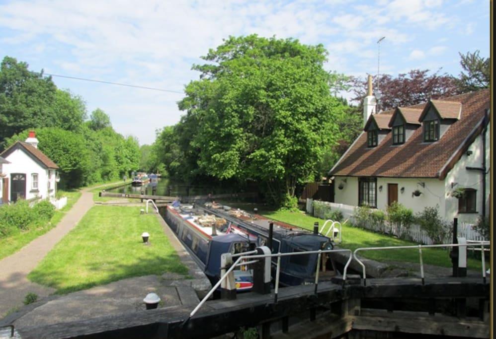The canal 5 mins walk