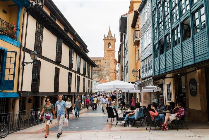 Apatamento WIFI, Oviedo, catedral, ayuntamiento