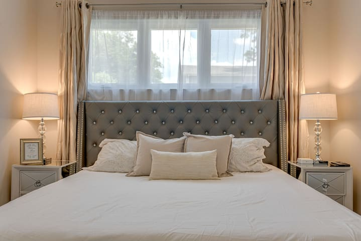 Our guests rave about how comfortable this king size bed is!