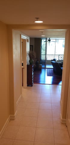 Foyer with access to to the laundry room