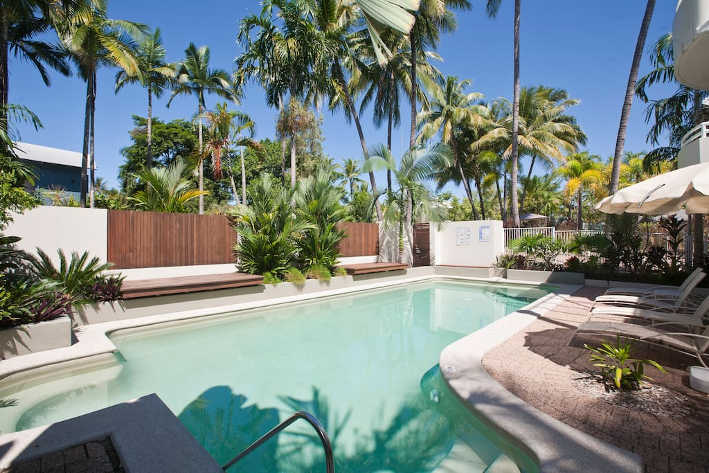 With only 10 apartments in the complex, our guests often have the beautiful pool area to themselves.