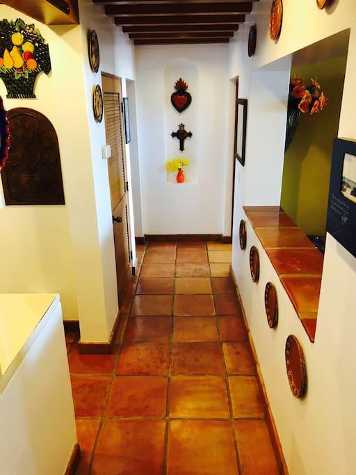 Hallway view as you enter condo