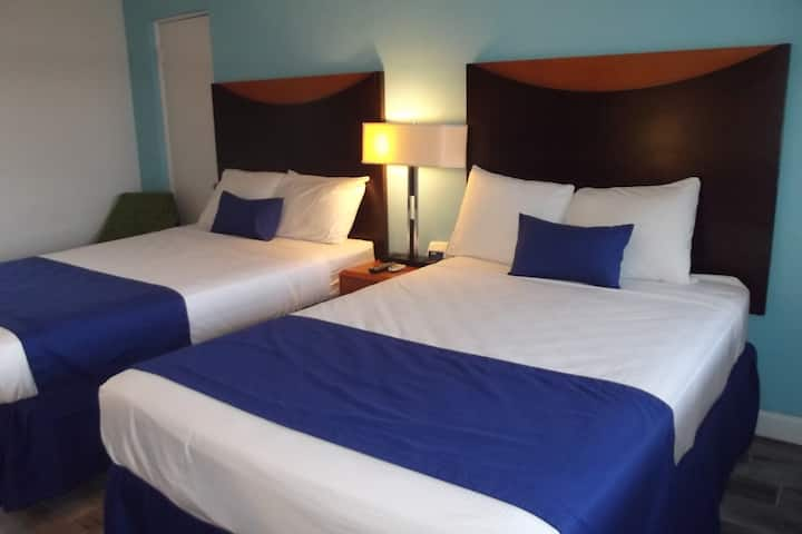 Two Double Beds Across From Beach Access