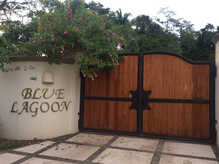 Entry gate from the road