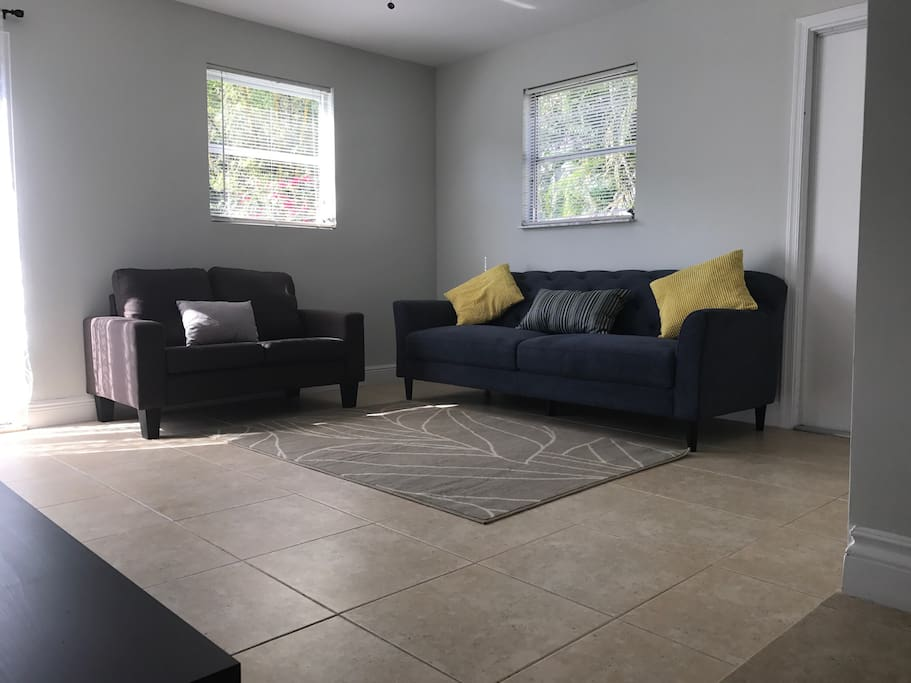 1st Living room with easy access to the large backyard