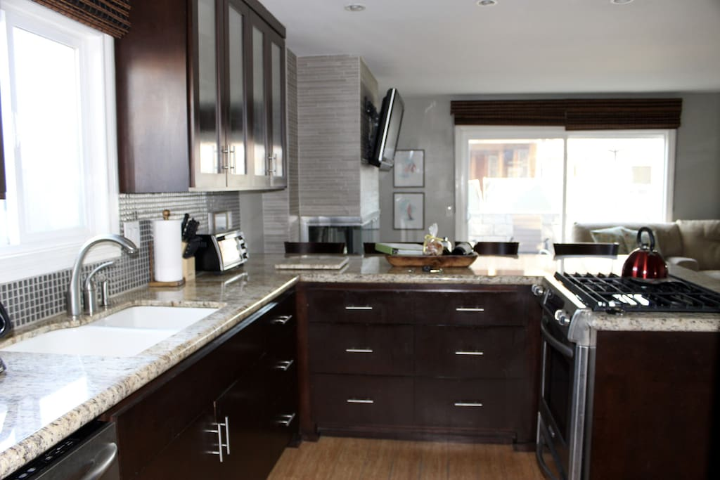 Updated appliances and granite countertops.
